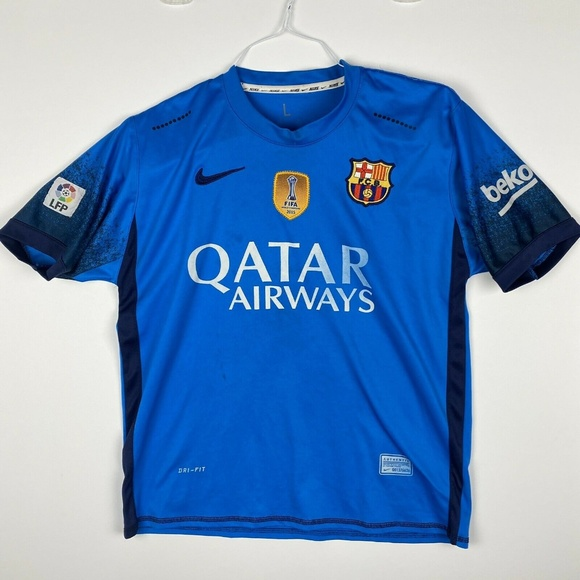Nike Other - Nike Neymar Jr #11 FCB Barcelona Qatar Blue Soccer